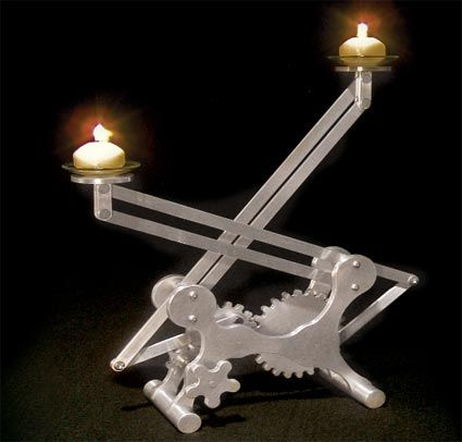 Make your own metal geared candle holder mechanical art for Create your own candle holder