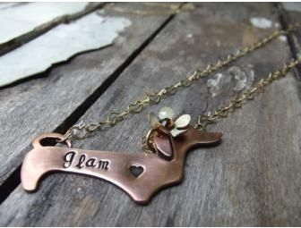 Custom Made Dachshund Pendant Necklace Personalized up for bid in the Furever Dachshund Rescue online Auction going on right now til Nov 26th. Come look at all the items!