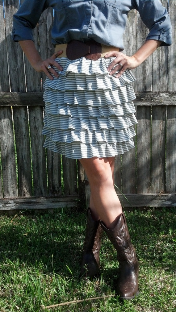 Adult women's ruffle skirt by CaraLeAnnDesigns on Etsy, $40.00
