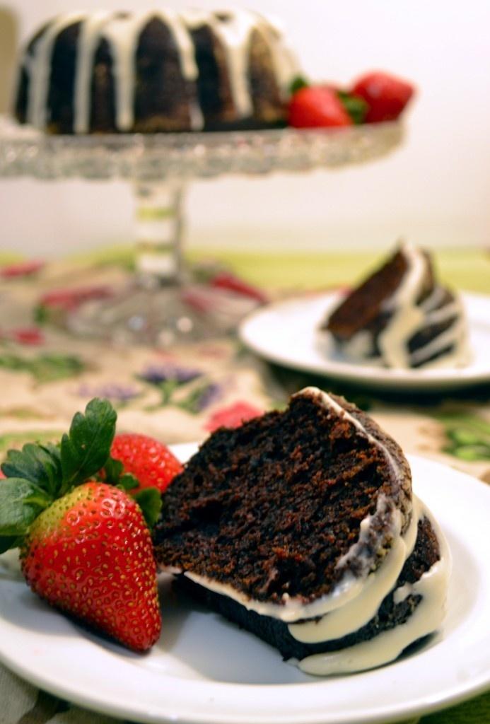 Chocolate Beet Cake with Cream Cheese Glaze. Crazy moist. Tastes like ...