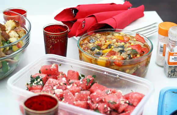 watermelon salad with feta amp mint try adding arugula or making it ...