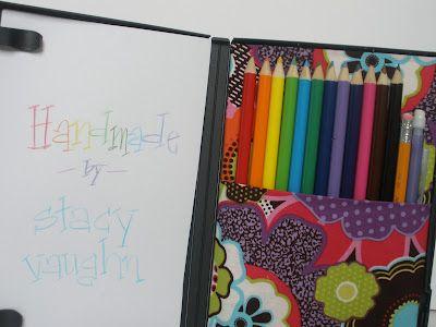 DVD Case into Coloring Travel Case!