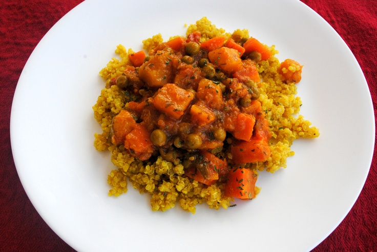 Fall Moroccan Squash and Carrot Stew with Quinoa