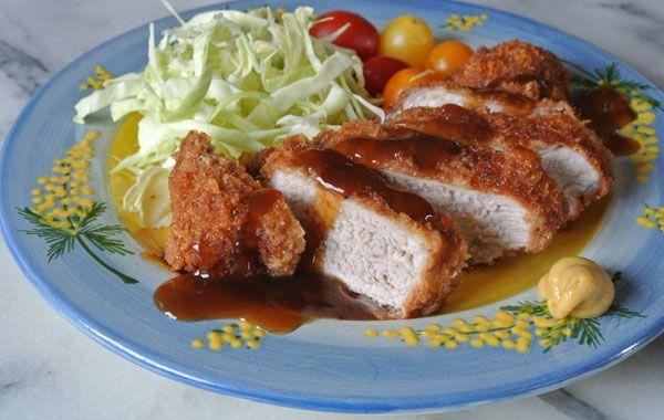 Tonkatsu ~ Japanese Deep Fried #Pork Cutlet #recipe