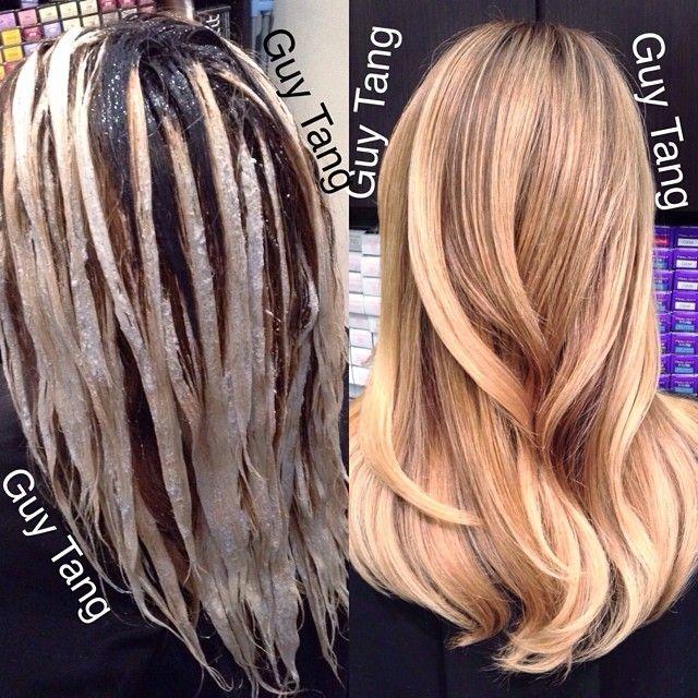 Балаяж как сделать на темные волосы