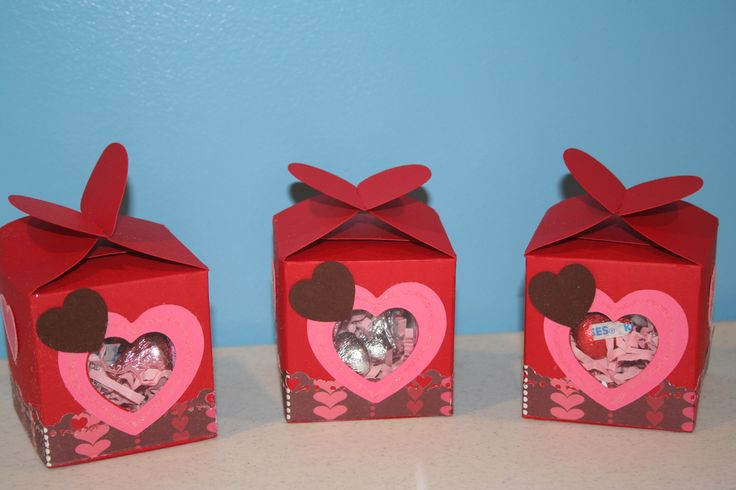 valentine's day box made from cereal box