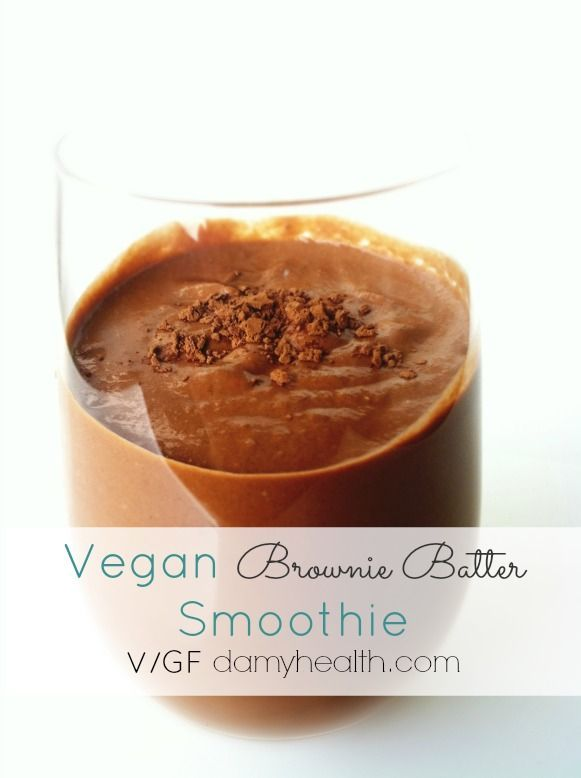 Brownie Batter Smoothie 1/2 Cup Pumpkin Puree 1/4 Cup Cocoa Powder 1 ...