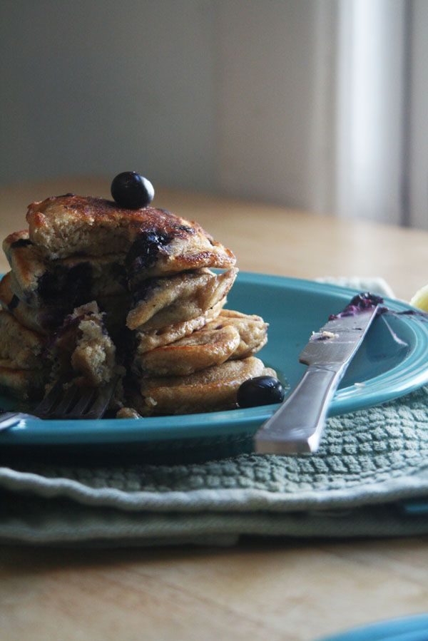 Whole Wheat Blueberry Lemon Pancakes   Oh So Decadent