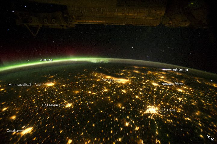 Aurora Borealis shot from space by NASA.   Weather stuff ...