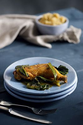 Chard with Potato and Spring Onions Mash - chicken - green onions ...