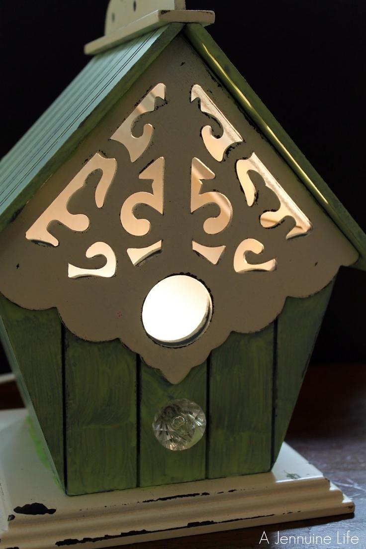 Nursery prep bird house night light - Birdhouse nightlight ...