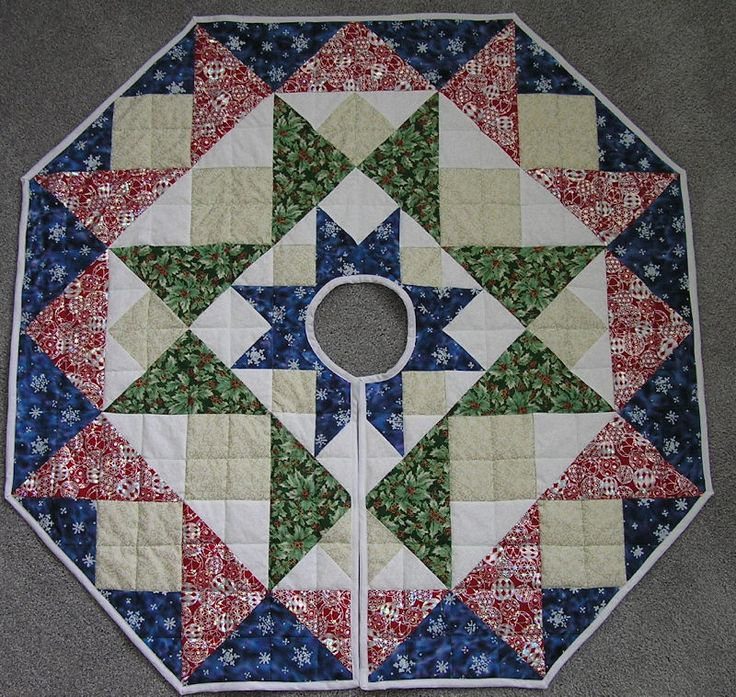 Quilting Pattern For Christmas Tree Skirt : Free Quilted Tree Skirt Patterns Christmas decorations Pinterest