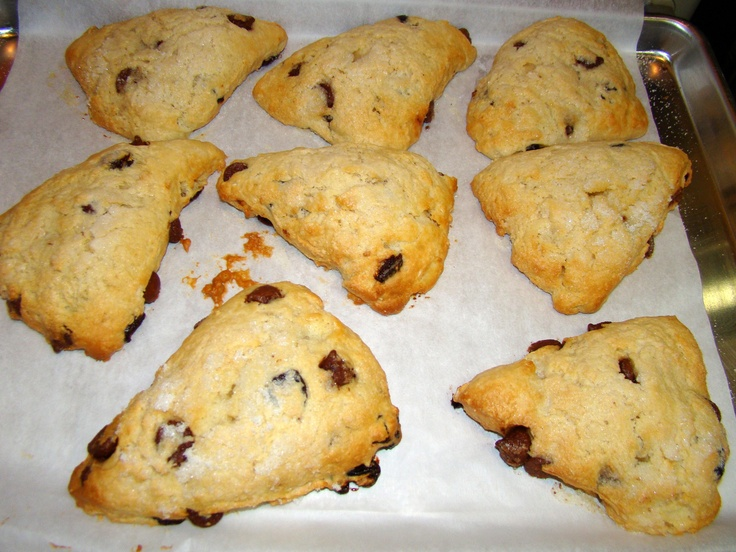 Chocolate & Dried Cherry Breakfast Scones The Village Cafe' Cottage ...