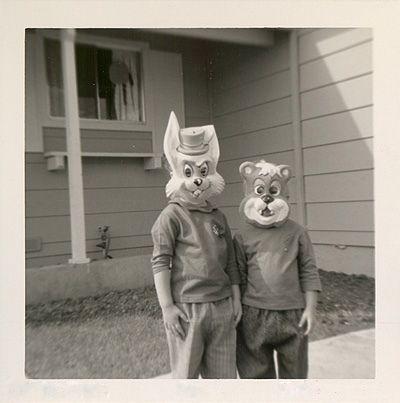 Bunny and bear. #vintage #halloween #masks #1960s