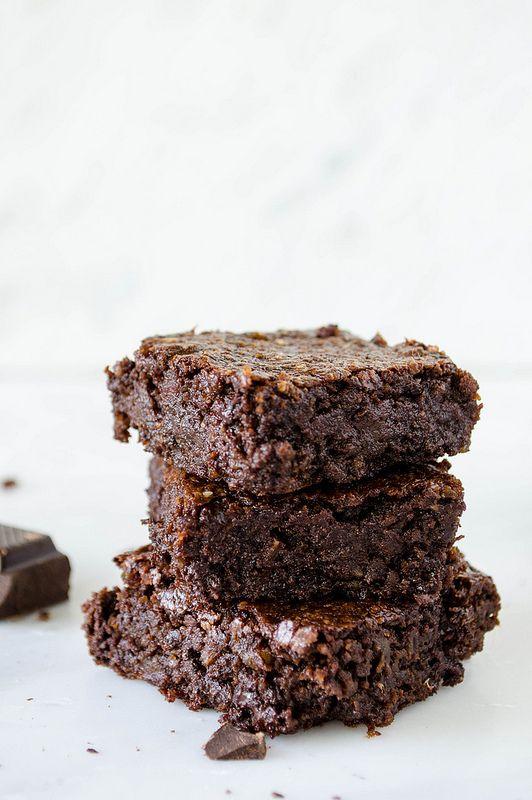 Rich Dark Chocolate Brownies (Gluten Free, Vegan, Refined Sugar Free ...