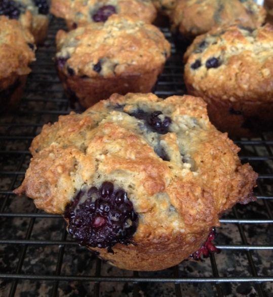 Blackberry Muffins | Recipes - Breakfast Ideas | Pinterest