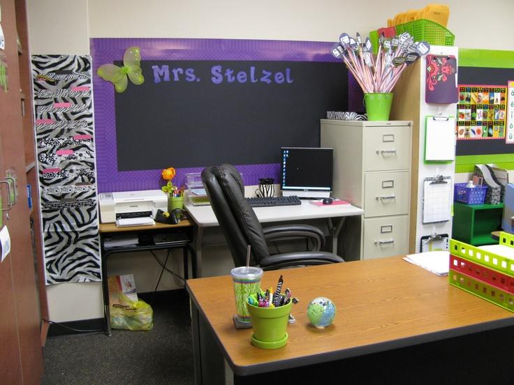 Teacher desk work area classroom design ideas pinterest - School desk organization ideas ...