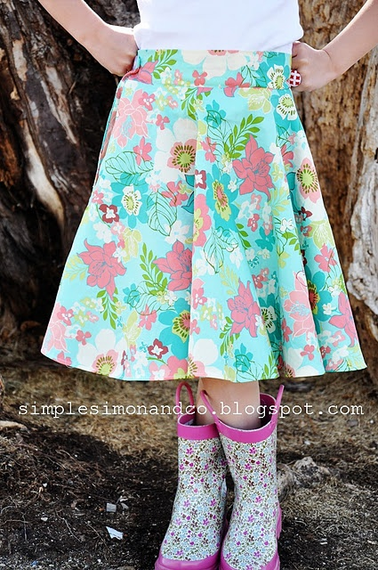 A Circle Skirt.....WITH POCKETS! (And a tutorial for the pockets)