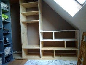 placard sous pente combles pinterest. Black Bedroom Furniture Sets. Home Design Ideas