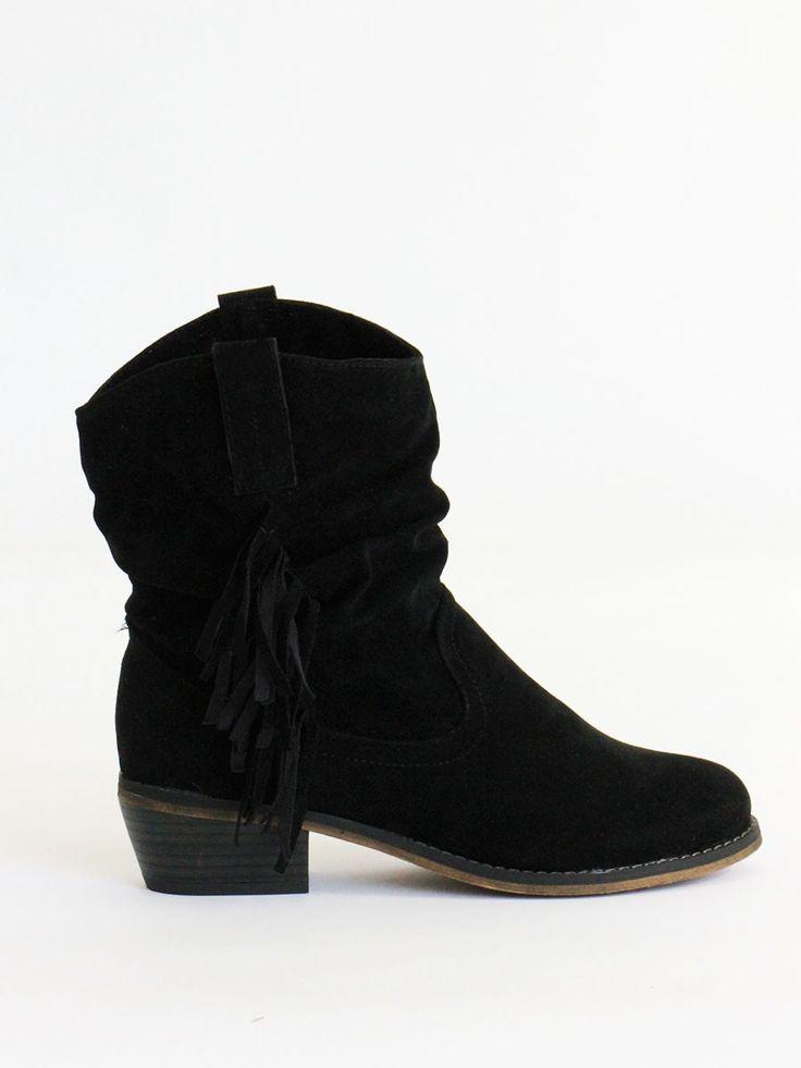 black suede fringe cowboy boots 39 99
