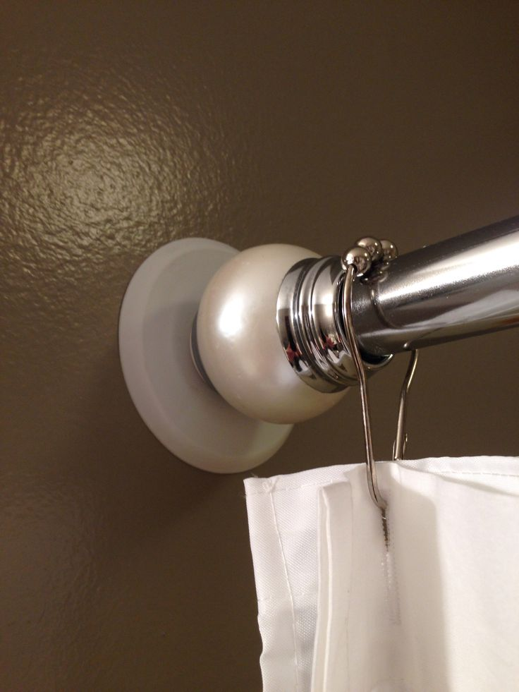 ... handles to protect walls for shower curtain rods! Works wonderfully