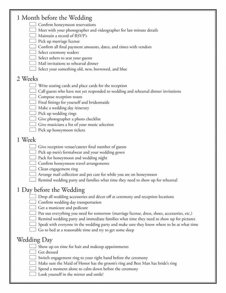 ultimate wedding list planning
