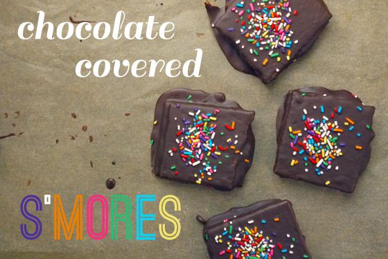 OneHungryMama Chocolate Covered S'mores | Sweet Treats | Pinterest