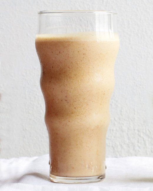 Almond-Date Smoothie _ The combination of almond butter and pitted ...
