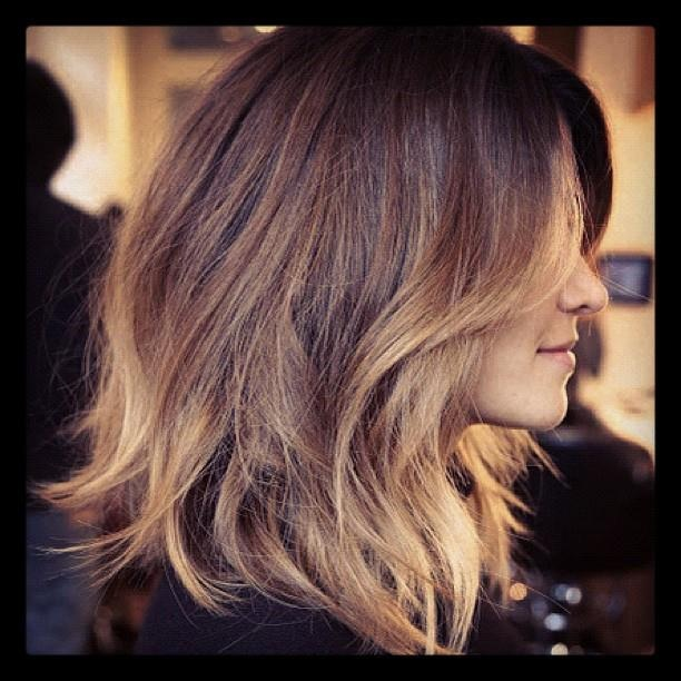 long bob with ombré