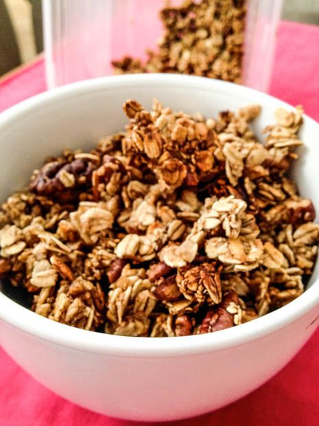 Maple Pecan Pie Granola. With a couple basic substitutions/alterations ...