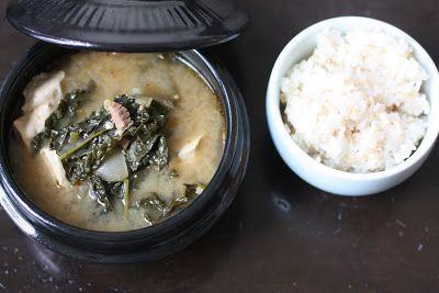 Week of Menus: Korean Kale Soybean Paste Stew (Kale Doenjang Jjigae ...