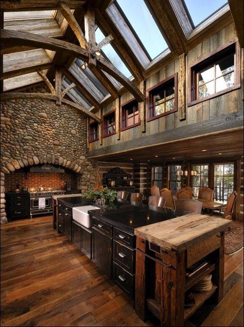 Dream Log Cabin Kitchen House Ideas We 39 Ll Settle Down