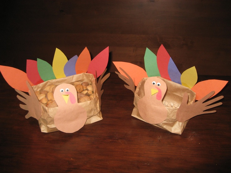 Paper bag turkey centerpiece classroom stuff pinterest