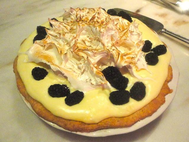 ... Blackberry and Lime Italian Meringue Pie from Bon Appetit