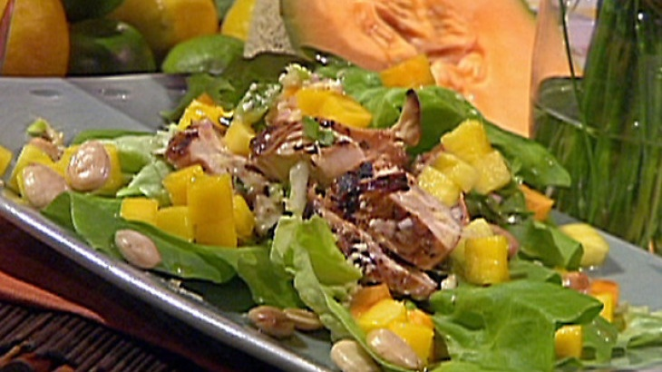 Marinated and Grilled Chicken Salad with Tropical Fruits, Marcona ...