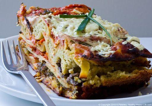 Garden Vegetable Lasagna w/ Ricotta Nut-Cheese and Marinated tofu