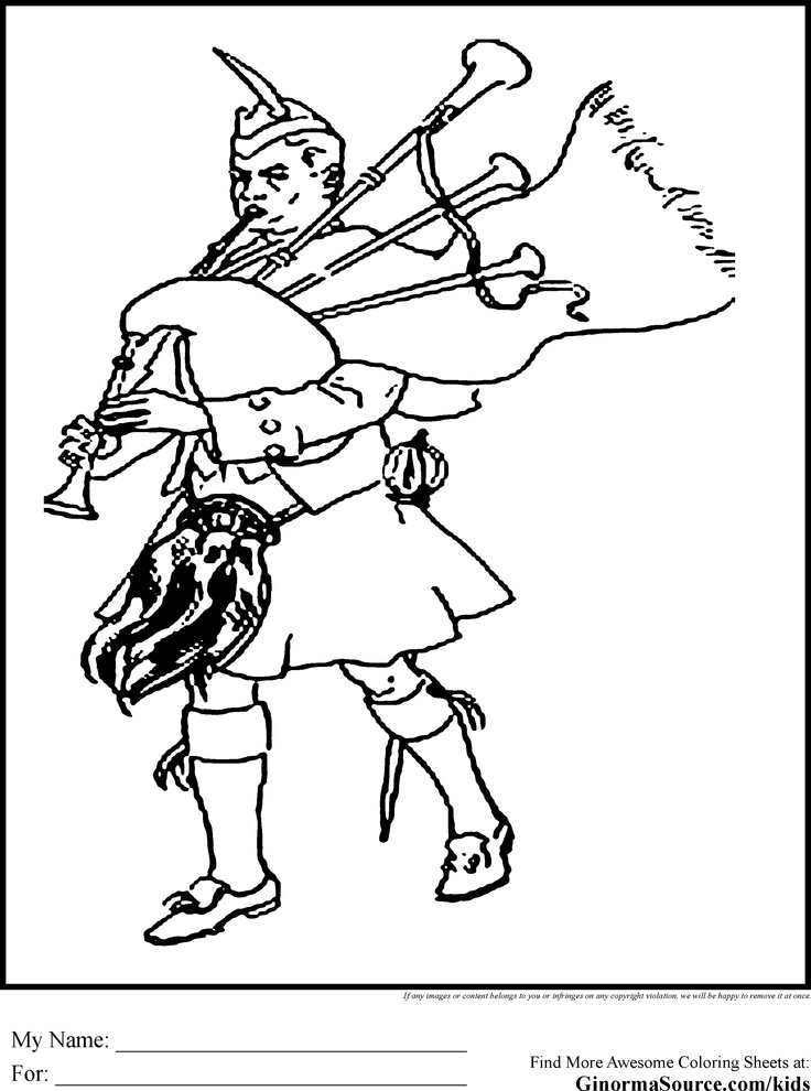 Scottish coloring pages