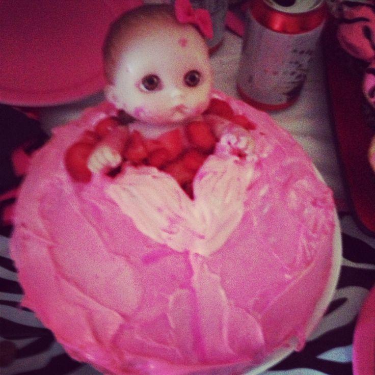 My baby shower vagina cake ;) ~Genieve ~