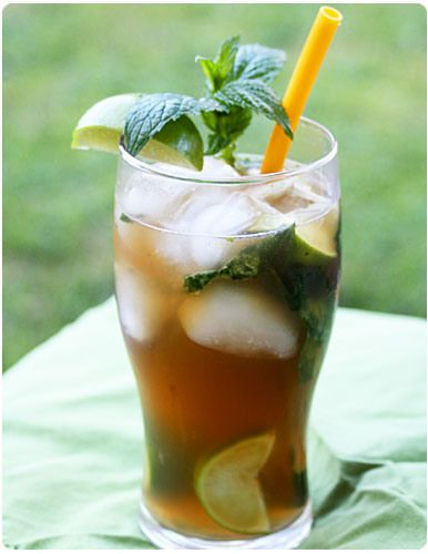 iced tea mojito | DIY Cocktails | Pinterest