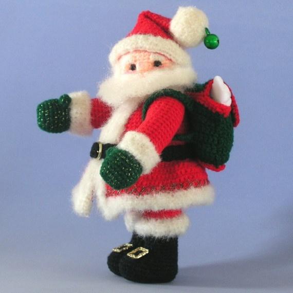 Miniature Santa Claus Doll Amigurumi Amigurumis Pinterest