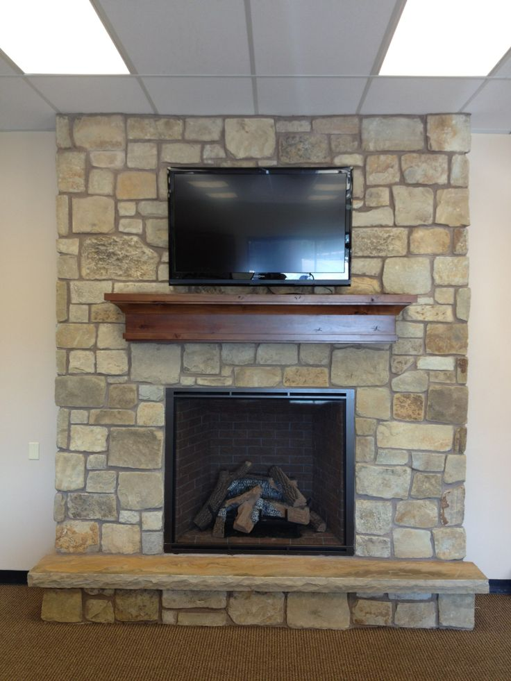 Big Fireplace With Natural Stone Hhdu Fireplaces