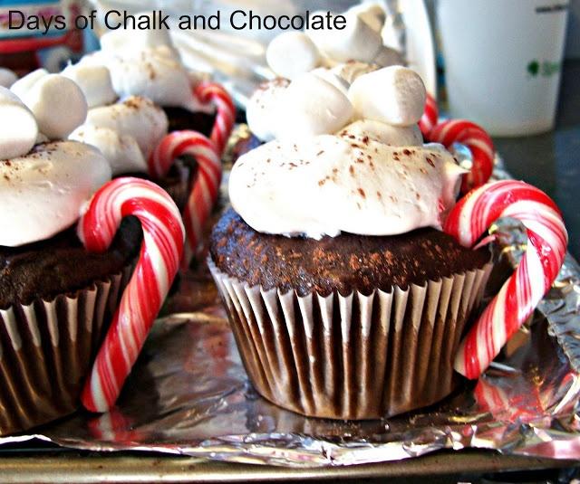 Hot Chocolate Cupcakes!   Christmas   Pinterest