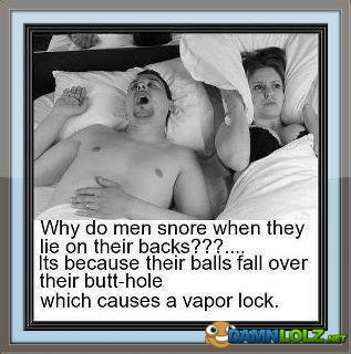 why do men snore?