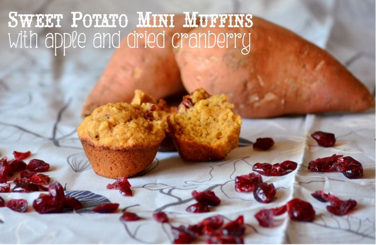 Sweet Potato Mini Muffins with Apple and Dried Cranberry | Recipe