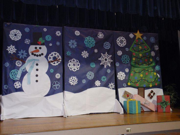 christmas program backdrop destination imagination program decoration