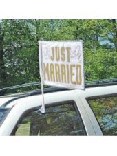 Just Married Wedding Car Flag -Wedding Car Decorations -Weddings