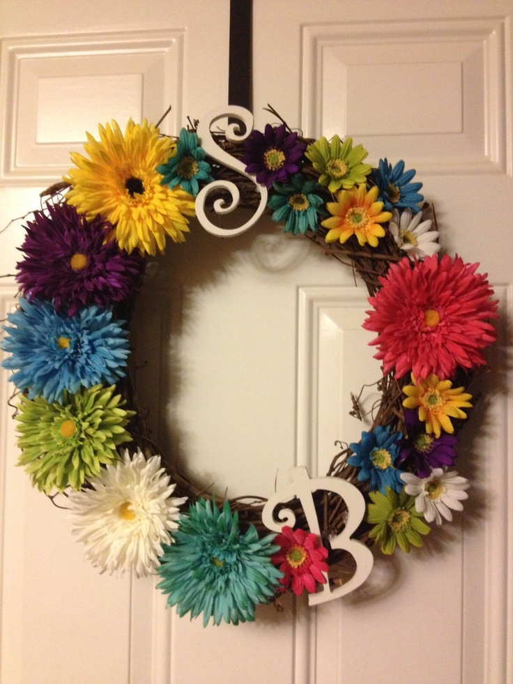 diy summer wreath she 39 s crafty pinterest