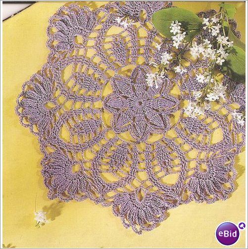 Crochet Patterns Nz : Crochet Doily Pattern Lavender & Lace Doily on eBid New Zealand