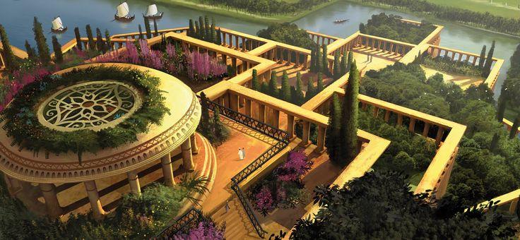Jardines colgantes de babilonia las siete maravillas del for Jardines colgantes de babilonia