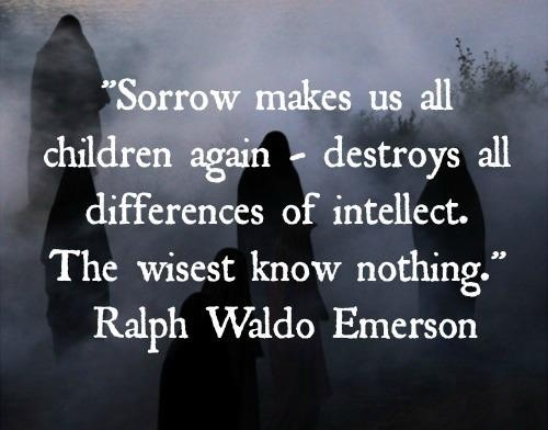 Sorrow - A friend lost her son yesterday. there are no words for this.